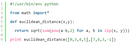 python code and similarities