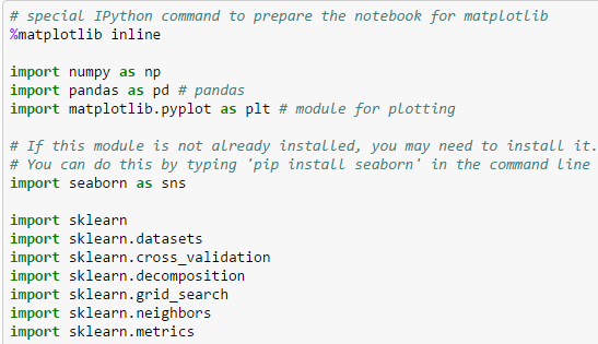 Ipython notebook to analyze digits data set
