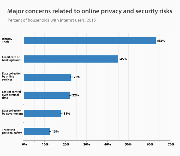 Major concerns related to online privacy and security risks