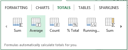Excel-Average-Totals-Options
