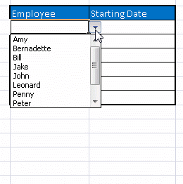 Excel-Dropdown-List