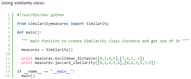 Implementing the five most popular Similarity Measures in Python