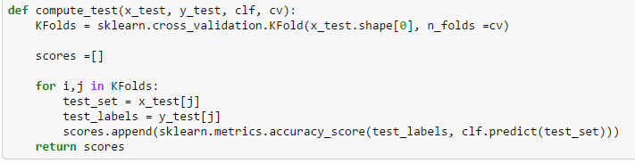 compute test function