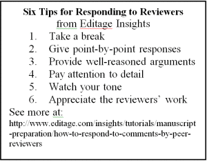 Responding to reviewers