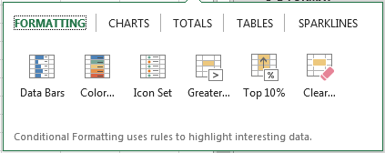 Excel-Quick-Analysis-Options